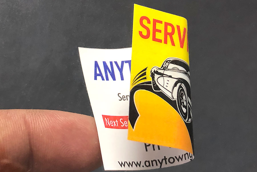Double sided Car Service Stickers