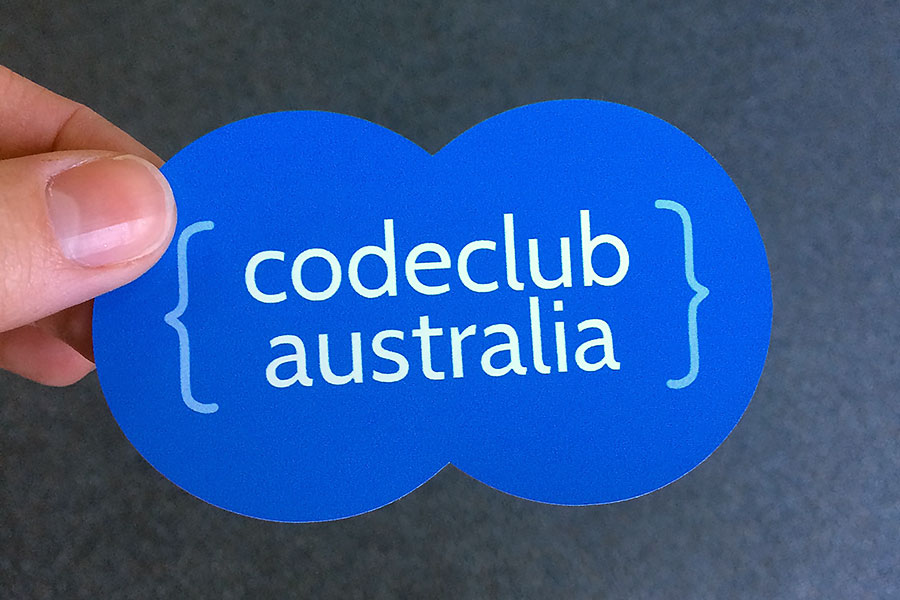 Code-club-peanut-shaped-sticker-label