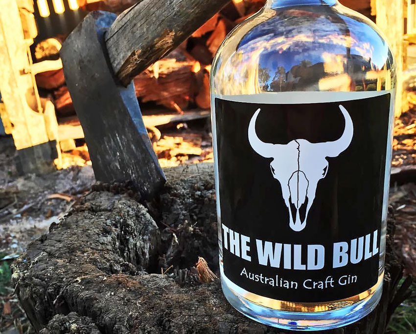 The Wild Bull Gin label
